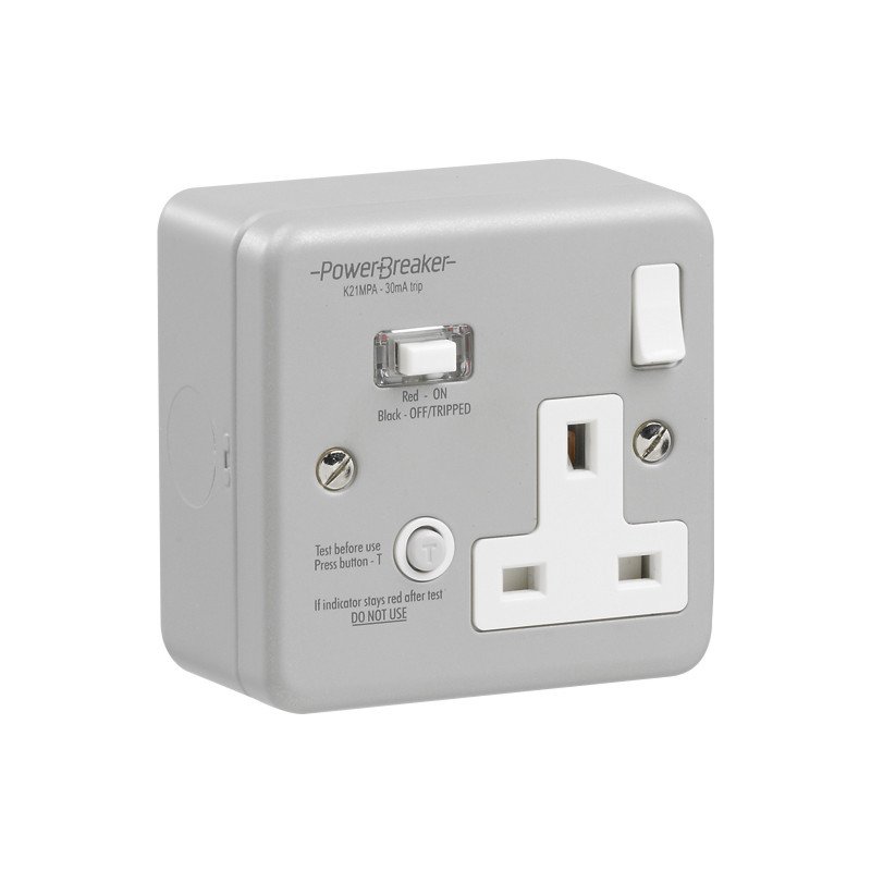RCD Switched Socket Metalclad