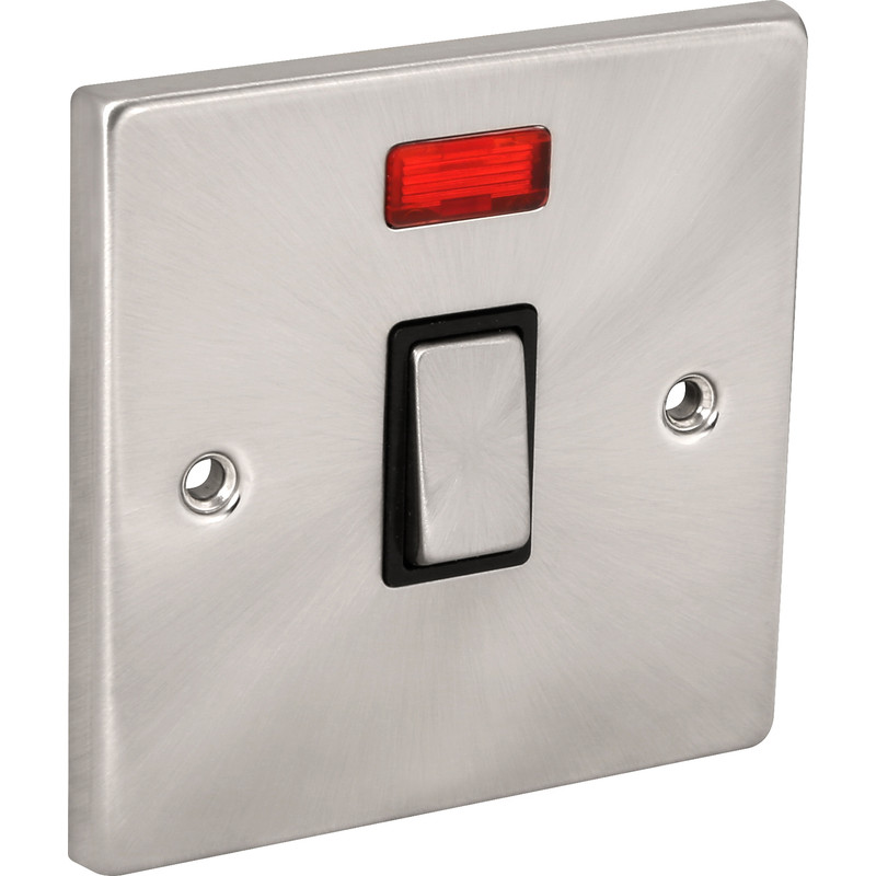 Click Deco Satin Chrome 20A DP Switch