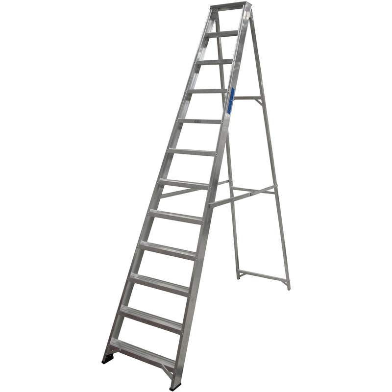 Lyte Industrial Swingback Aluminium Step Ladder
