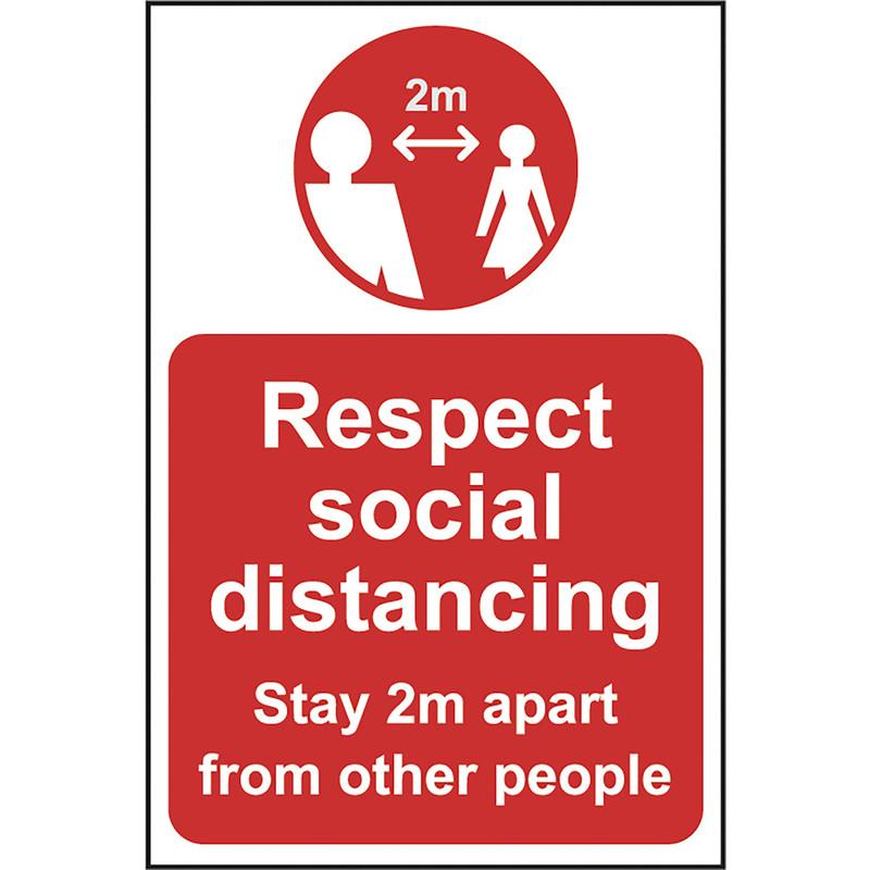 'Respect Social Distancing' Correx A-Board