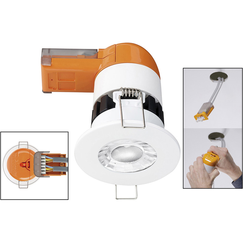 Enlite E6 Pro 6W Fixed Dimmable Fire Rated LED Downlight