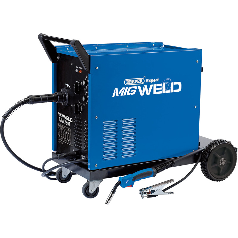 Draper 250A Gas/Gasless Turbo MIG Welder