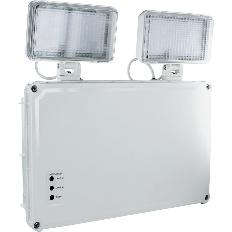 Integral LED Emergency Twin Spot Non Maintained