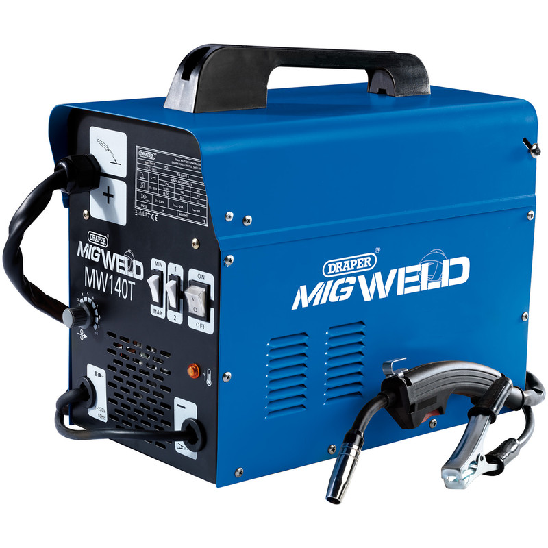 Draper 130A Gas/Gasless Turbo MIG Welder