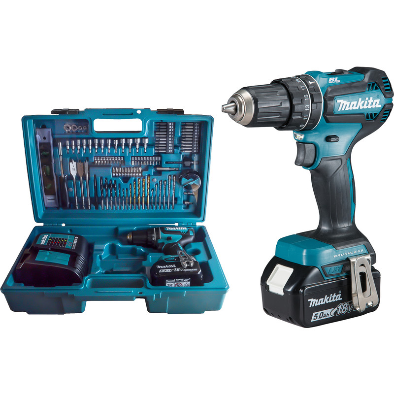 Makita 18V LXT Brushless Combi Drill & Accessory Kit