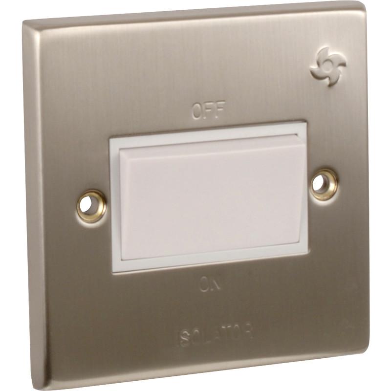 Satin Chrome/ White Fan Isolator
