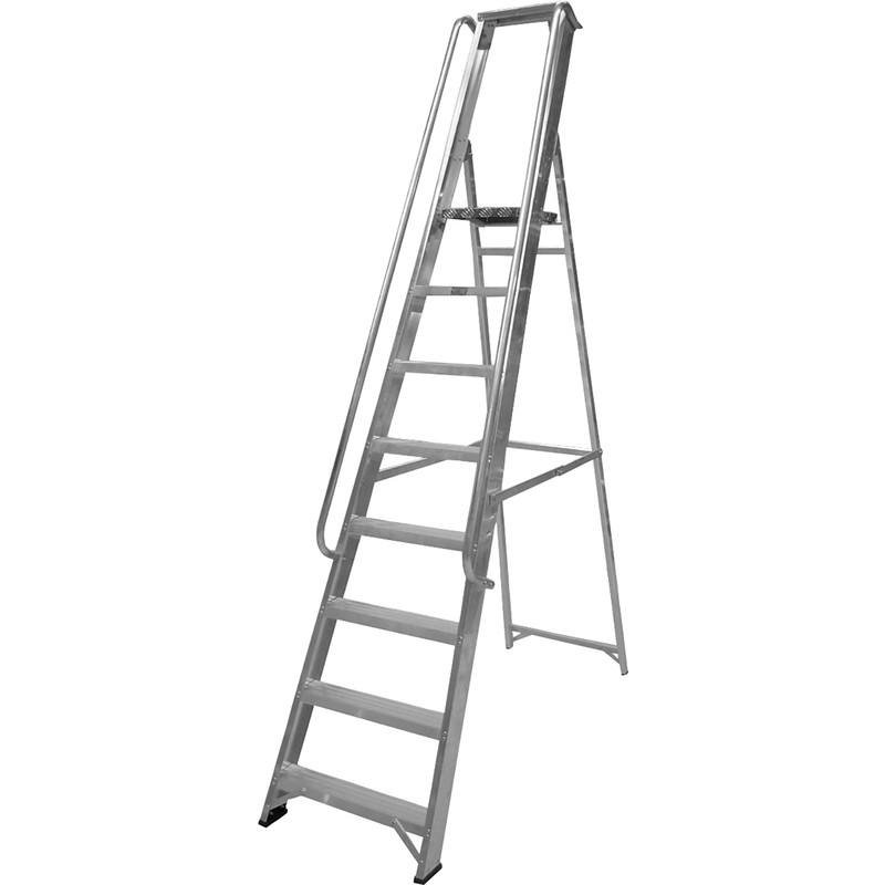 Lyte Industrial Platform Aluminium Step Ladder