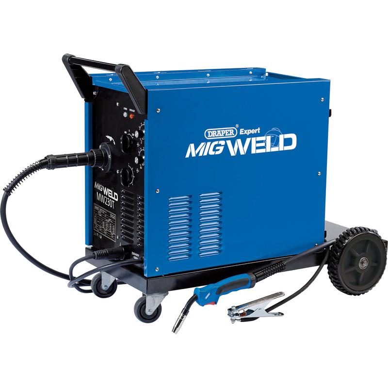 Draper 220A Gas/Gasless Turbo MIG Welder