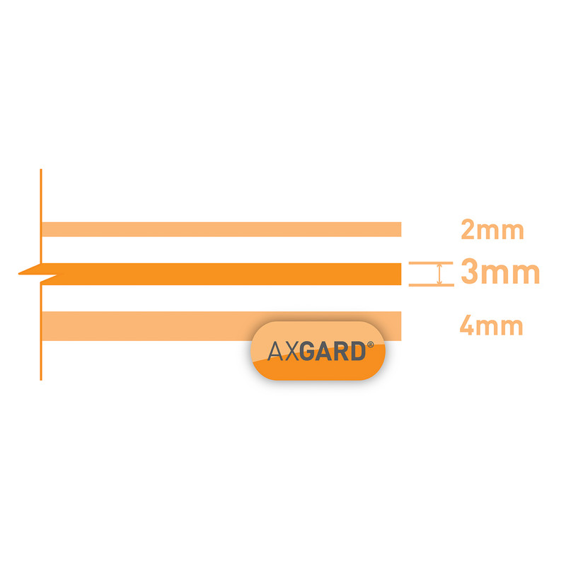 Axgard 3mm Polycarbonate Clear Impact Resisting Glazing Sheet