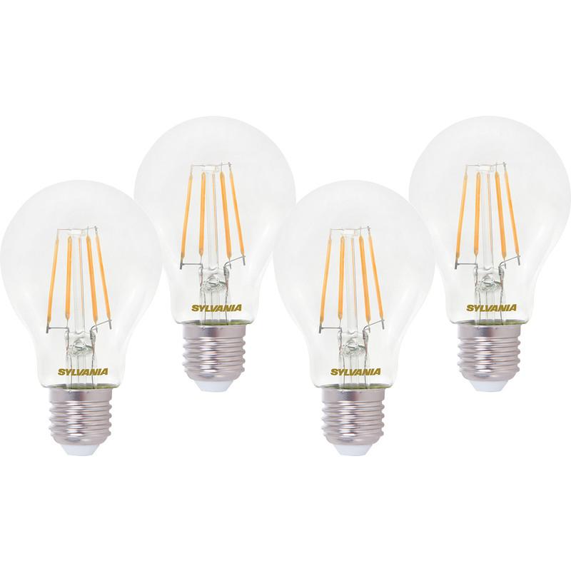 Sylvania LED RT A60 Filament Clear GLS Lamp 4.5W ES (E27