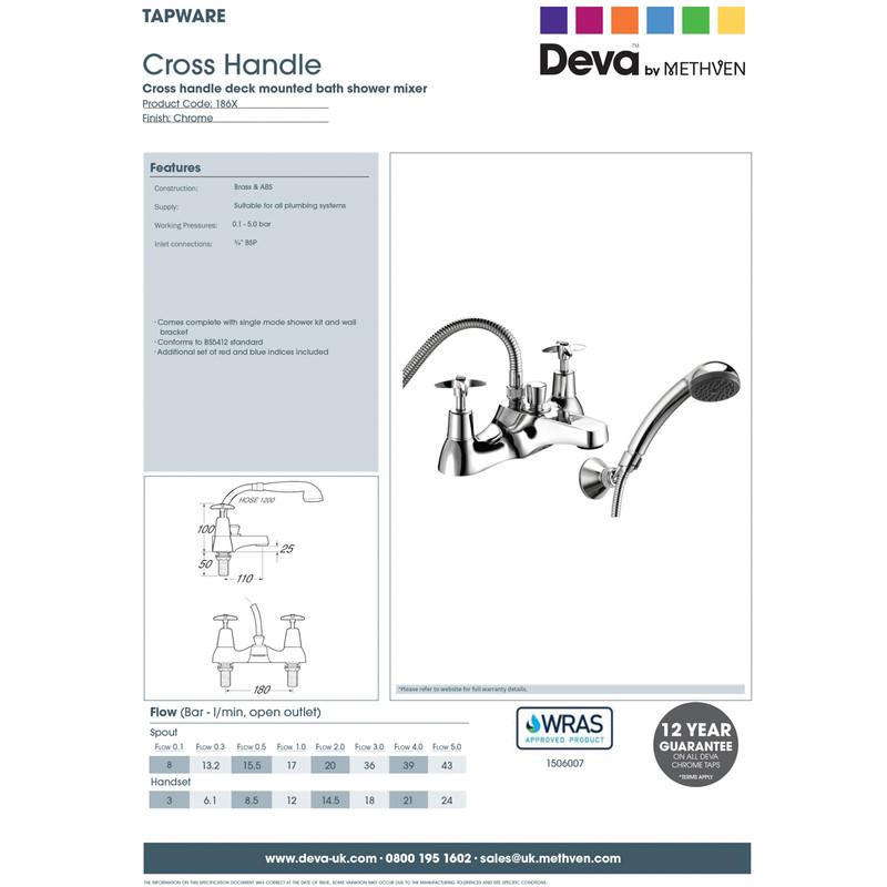 Deva Cross Head Taps