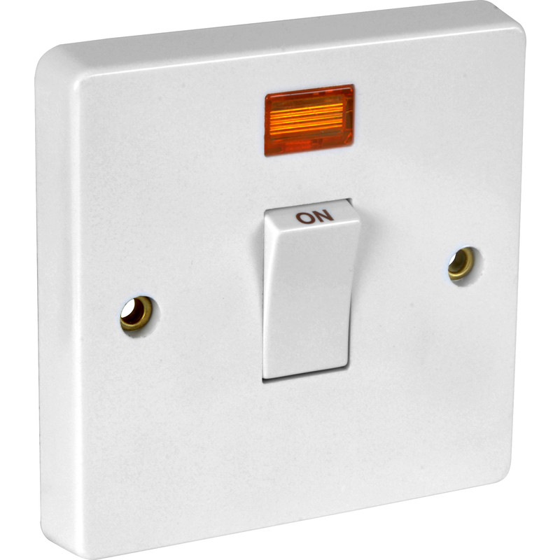 Crabtree 20A DP Switch Switched Neon