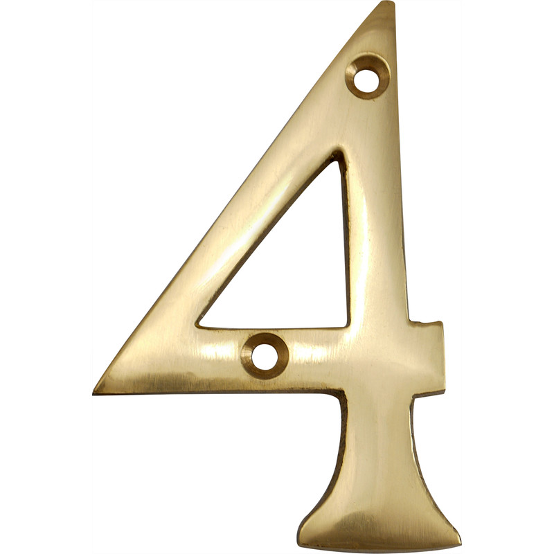 Brass Numeral 75mm