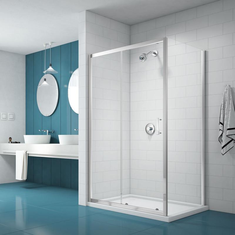 Merlyn NIX Sliding Shower Enclosure Door and Side Panel