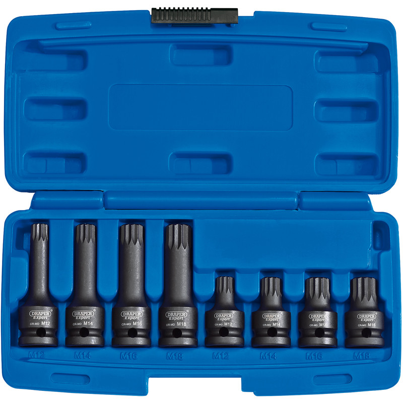 "Draper Expert 1/2"" Square Drive Tamper Proof Impact Spline Set"