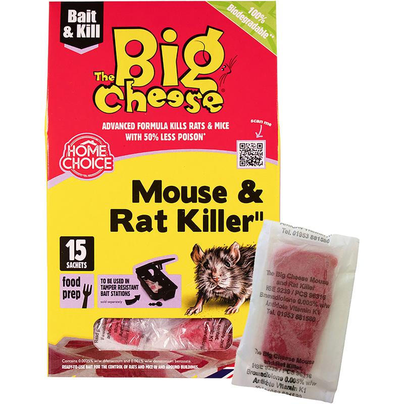 The Big Cheese Mouse & Rat Killer2 Pasta Sachets