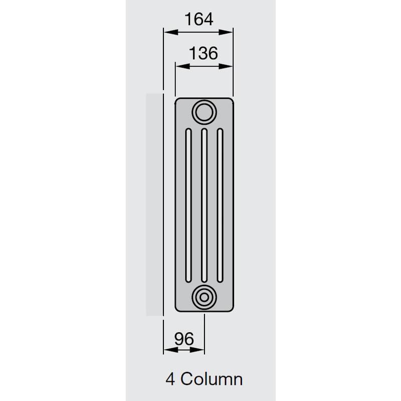 Arlberg 4-Column Horizontal Radiator