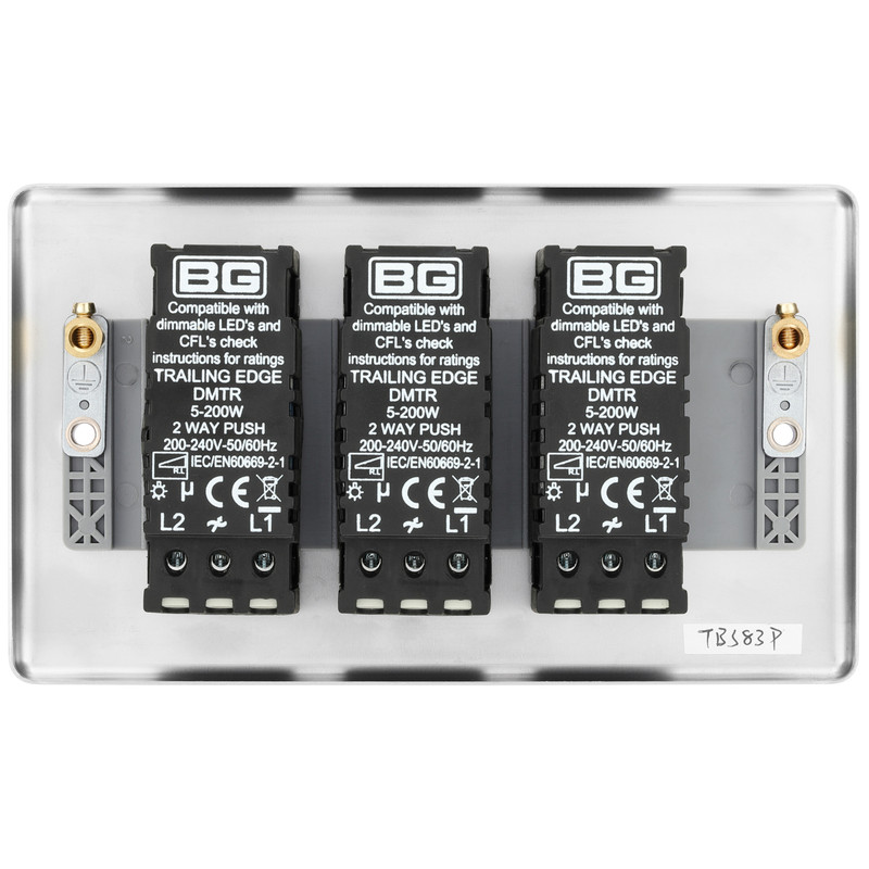 BG Brushed Steel Dimmer Switch