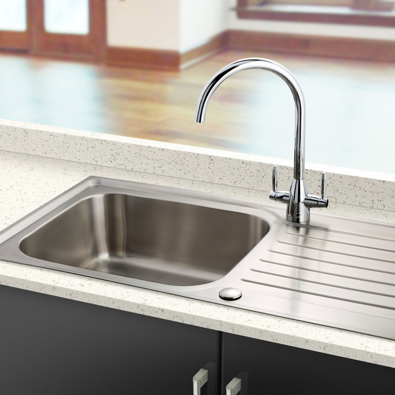 Stainless Steel Single Bowl Kitchen Sink & Drainer
