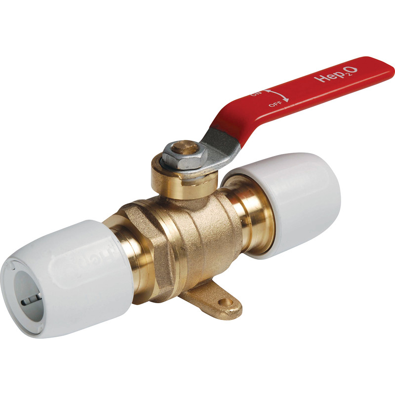 Hep2O Brass Plated Ball Valve