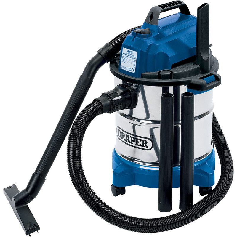 Draper 1250W Wet Dry Vacuum Cleaner 230V