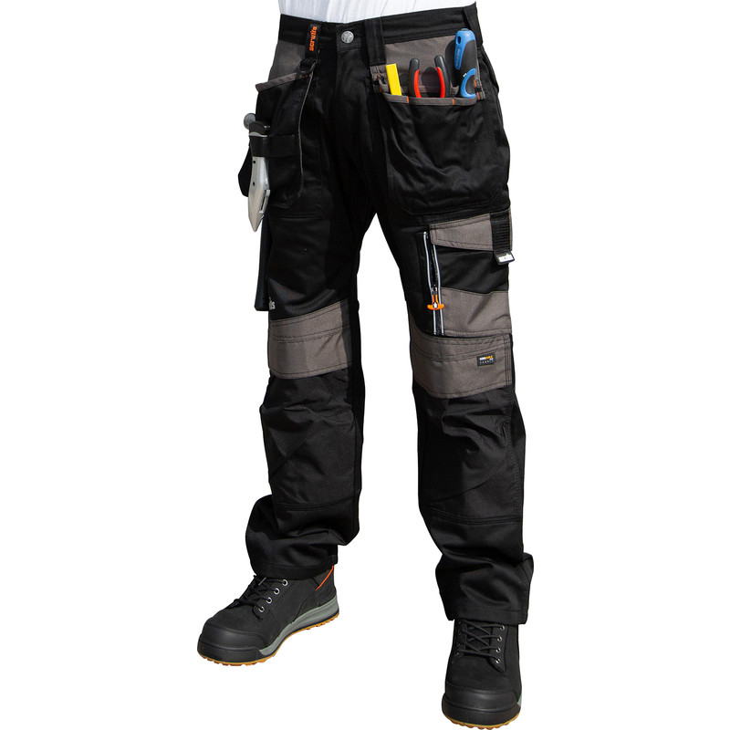 835e230cd6 Herrenmode Scruffs Trade Work Shorts TWIN PACK Black & Grey Multi Pockets  Hardwearing Cargo