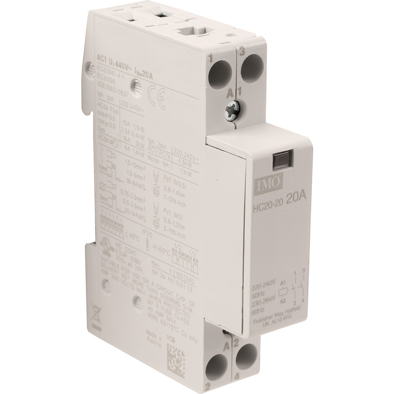 IMO 2 Pole Heating Contactor