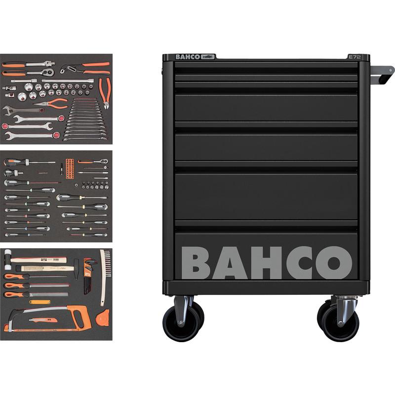 Bahco 5 Drawer Black Roller Cabinet