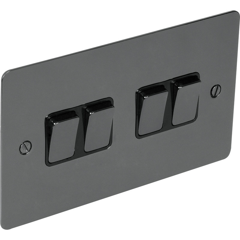 Flat Plate Black Nickel 10A Switch