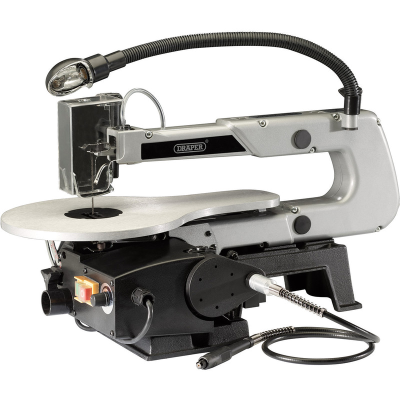 Draper 405mm 90W Variable Speed Scroll Saw with Flexible Drive Shaft and Worklight