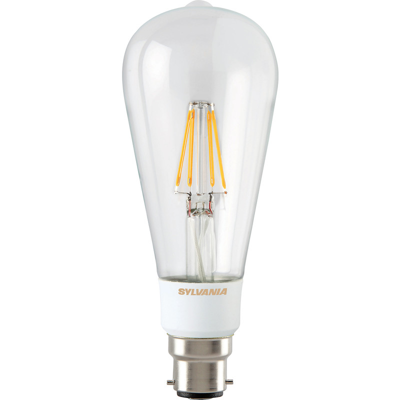 Sylvania LED Filament Effect Clear Dimmable ST64 Lamp