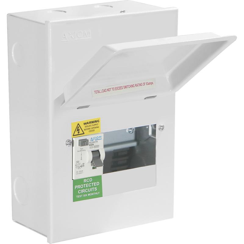 Axiom Metal Consumer Unit + 63A Type A RCD