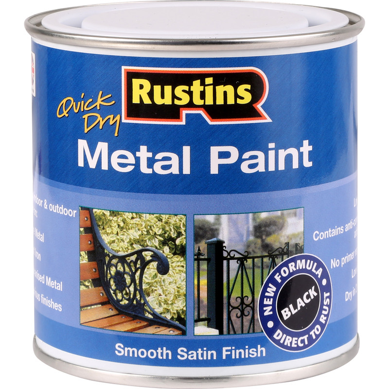 Rustins Quick Dry Metal Paint Smooth Satin 250ml