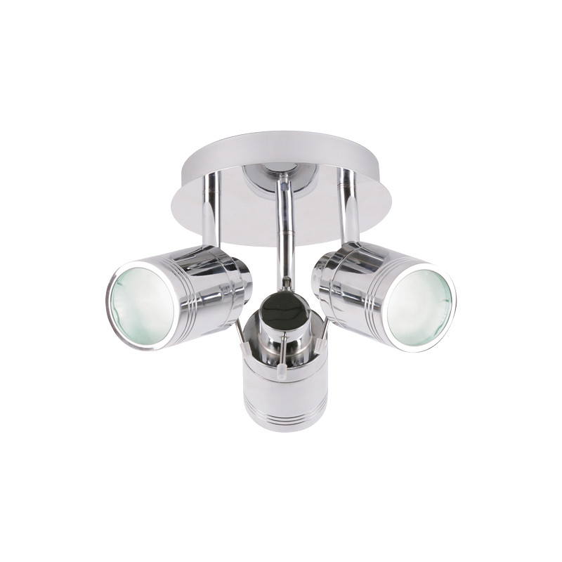 Bora IP44 GU10 LED 3 Plate Spotlight