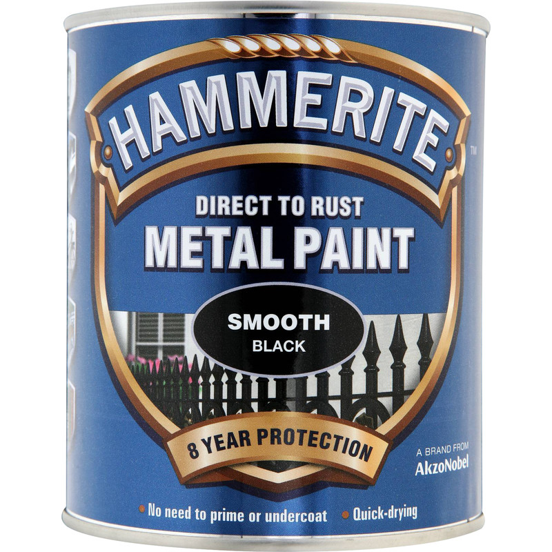 Hammerite Metal Paint Smooth Black 750ml