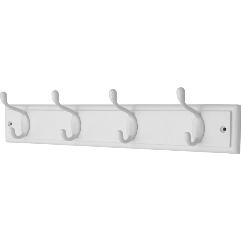 White On White Hat Coat Rack 40 Hook Gorgeous White Wooden Coat Rack