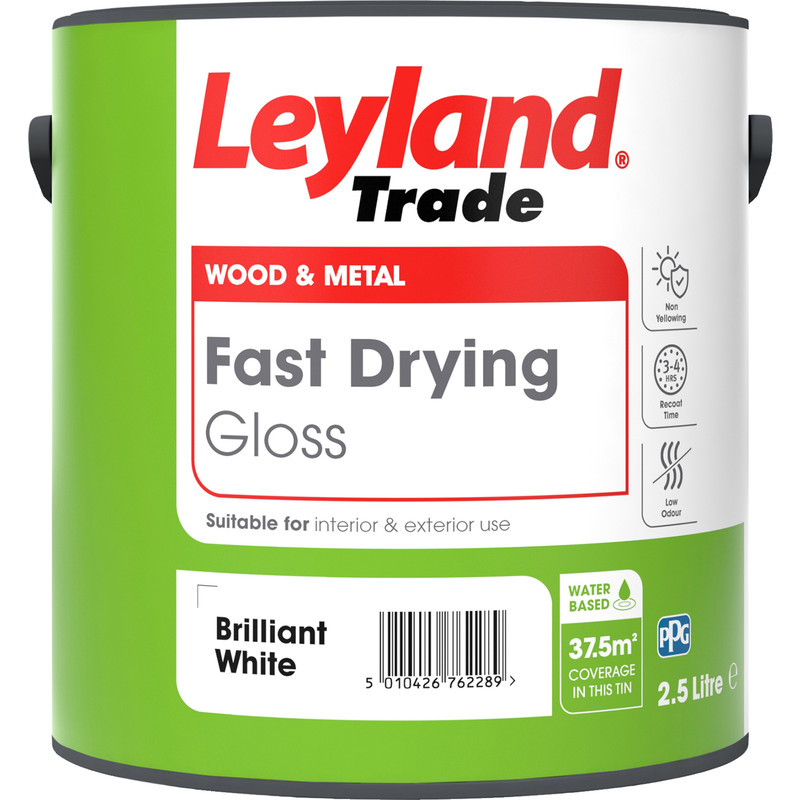 Leyland Trade Fast Drying Water Based Gloss Paint