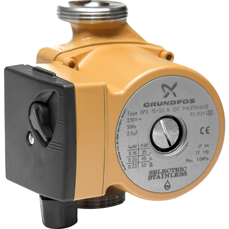 Grundfos UPS 15-50N Secondary Hot Water Circulator Pump