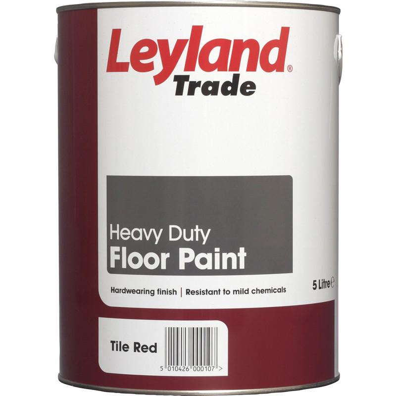 leyland trade floor paint 5l tile red 5l