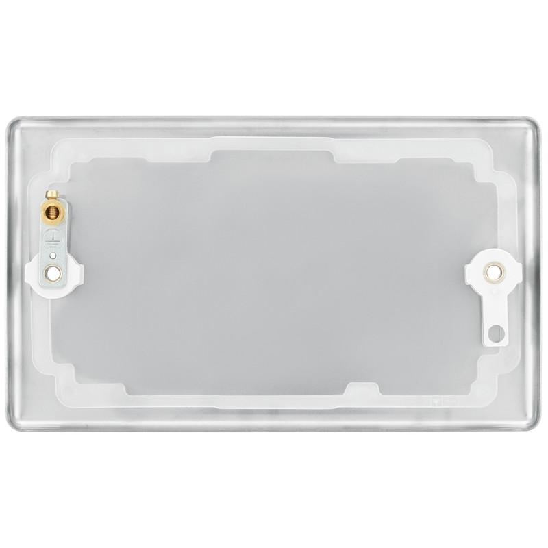 BG Brushed Steel Blank Plate