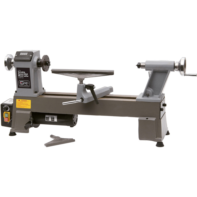 "SIP Mini 12 x 17"" 550W Bench Wood Lathe"