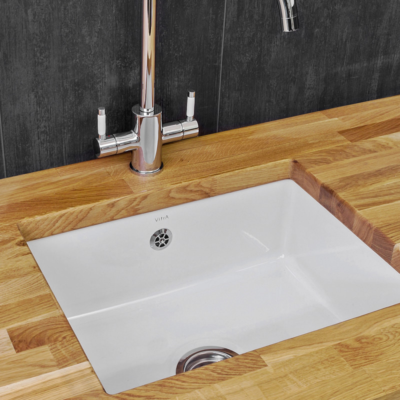 Reginox Undermount Single Bowl Ceramic Kitchen Sink & Drainer