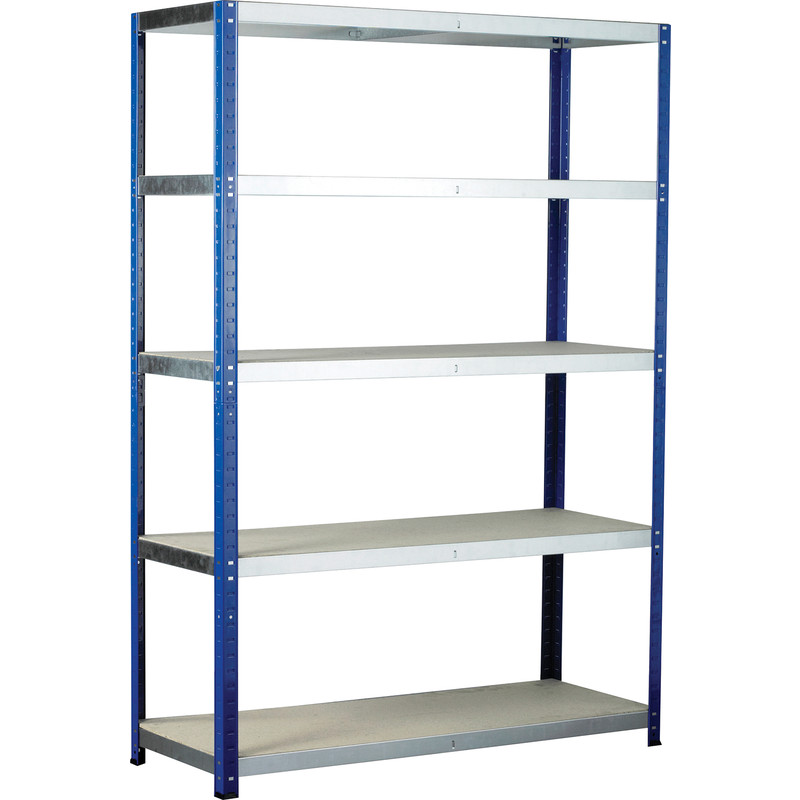 Eco Shelving Bay with Chipboard Shelves 5 Tier