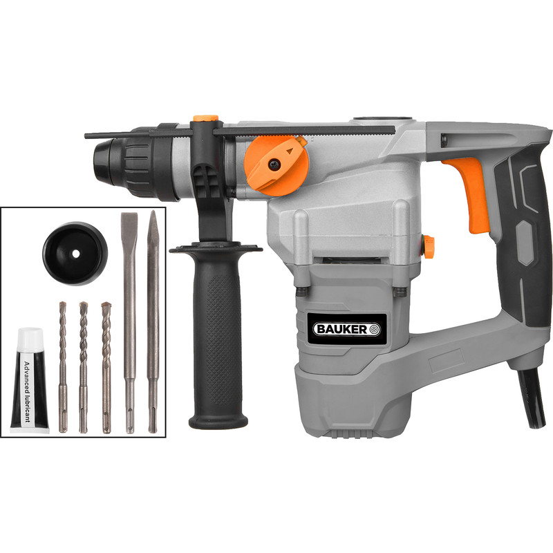 Bauker 1000W 26mm SDS Plus Rotary Hammer Drill