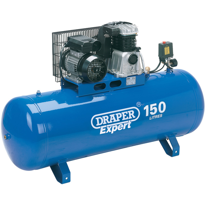 Draper Expert 150L 2200W Stationary Belt-Driven Air Compressor