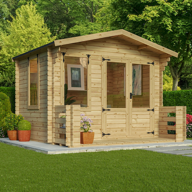 Mercia Log Cabin with Veranda - 19mm