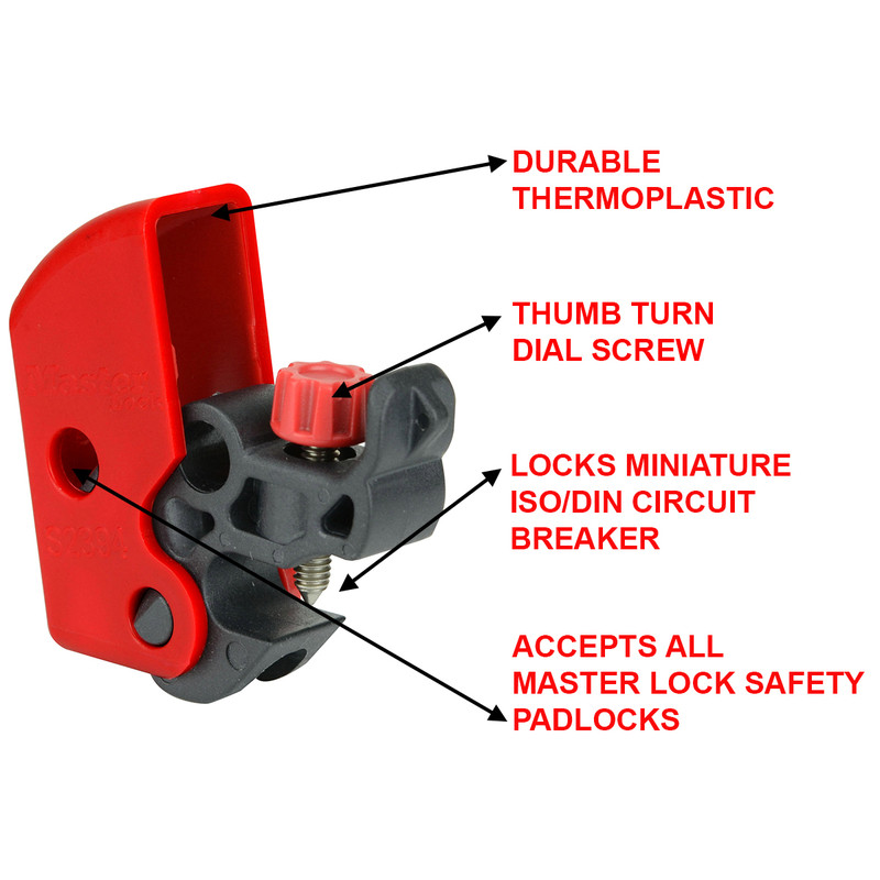 Master Lock Universal MCB Lockout Device