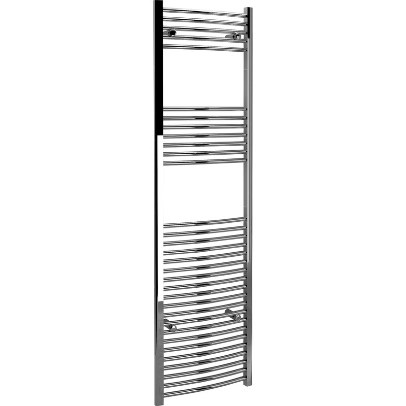 Kudox Chrome Curved Ladder Towel Radiator
