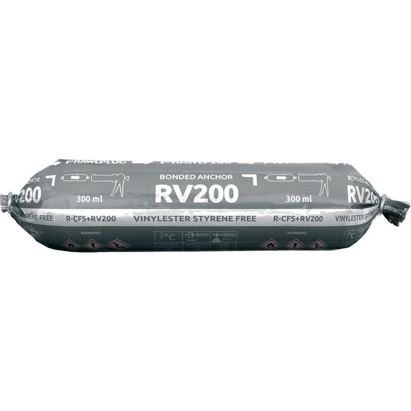 Rawlplug R-CFS+ RV200 Vinylester Styrene Free Resin