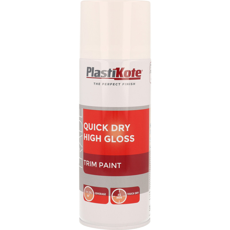 Plastikote Quick Dry High Spray Paint Gloss 400ml